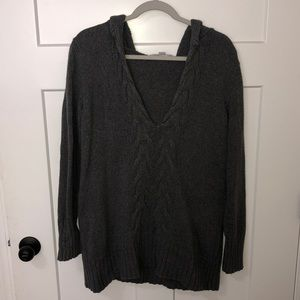 Size large grey old navy cable sweater.